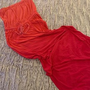 Sunrise Ombré Pink/Orange/Hot Pink Maxi Dress